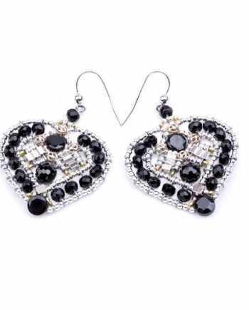 Handmade Earrings COEUR Black