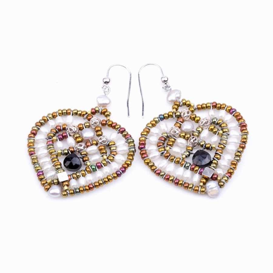 Handmade Earrings COEUR Pearl
