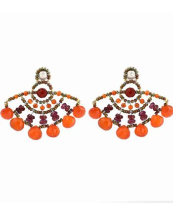 Earrings Abanico Orange