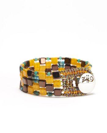bracelet pixel arancio small