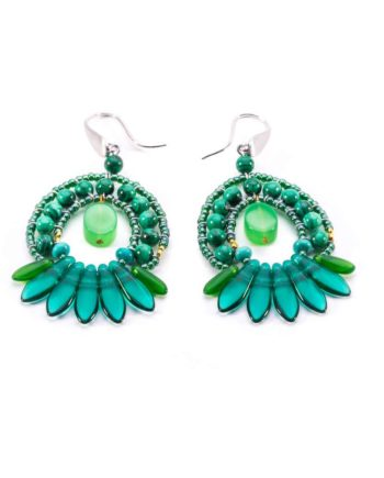 Earrings MISTINGUETT Green