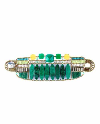 Bracelet Incas large green