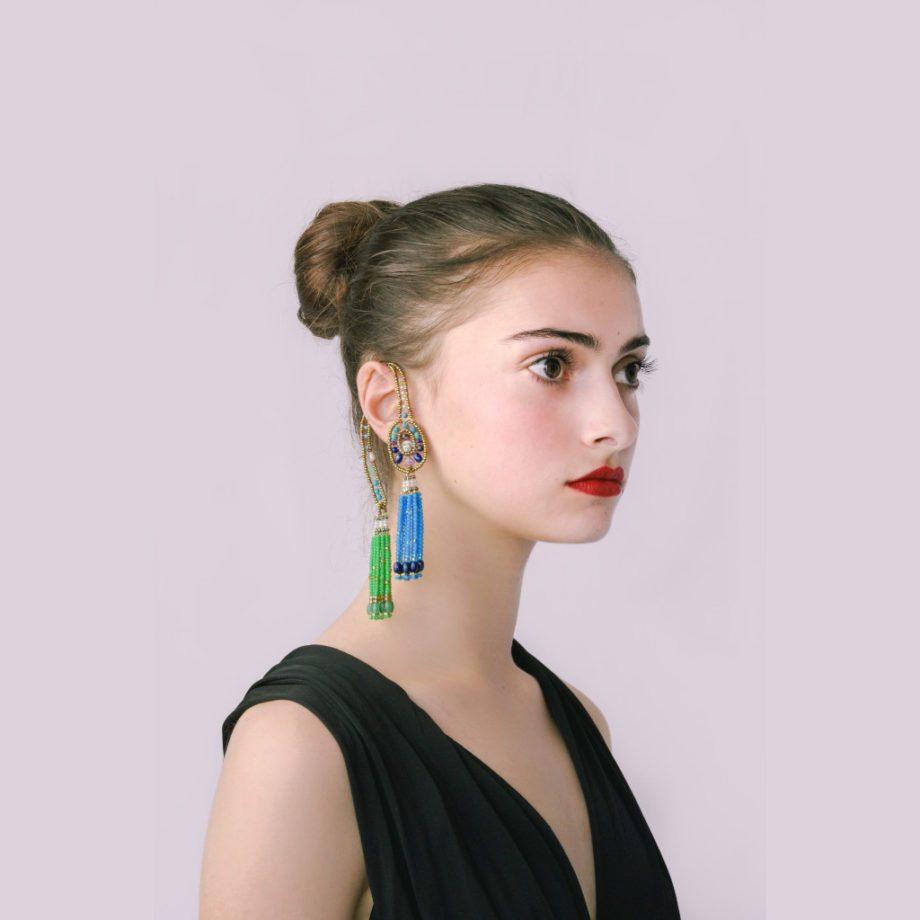 Handmade earrings chandelier Single IP