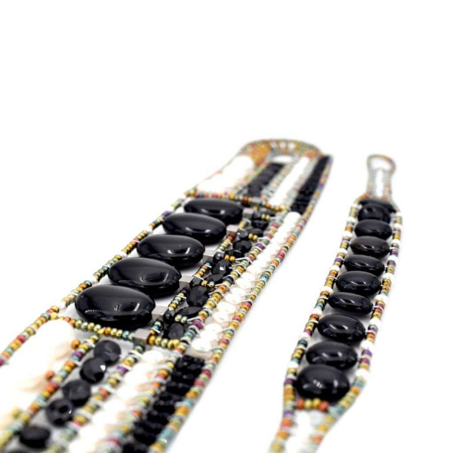 Ziio-gioielli-Bracciale Goiaba Black- Bracciale Essentiel Black pearl-STESI-c