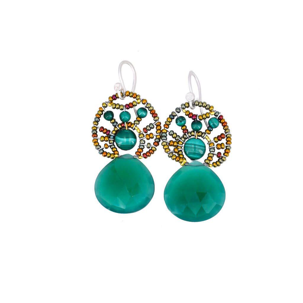 Ziio-jewels-Earrings Heart moghul Green-1024-c