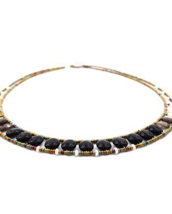 Ziio-jewels-Necklace-GIRO-OVALE-BLACK