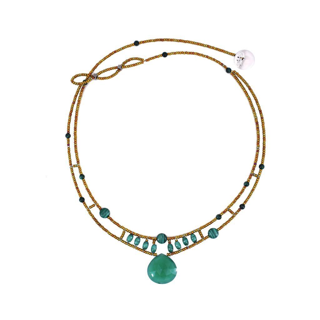 Ziio-jewels-Necklace HEART Green