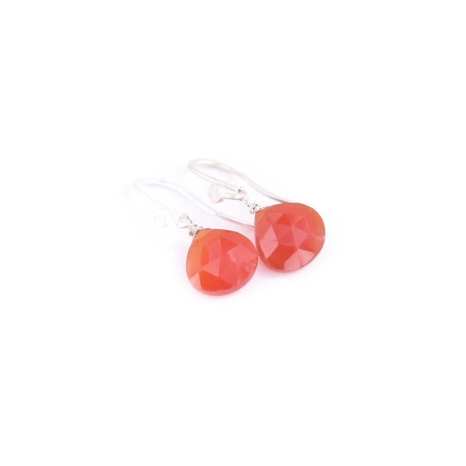 Earrings HEART Small Orange