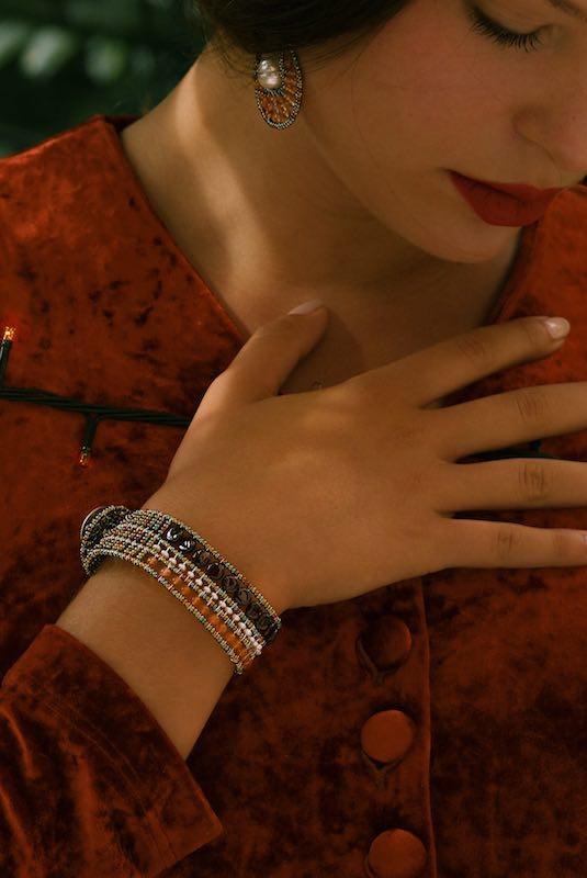 Elisse Jewels Collection-earrings ELISSE Orange-c