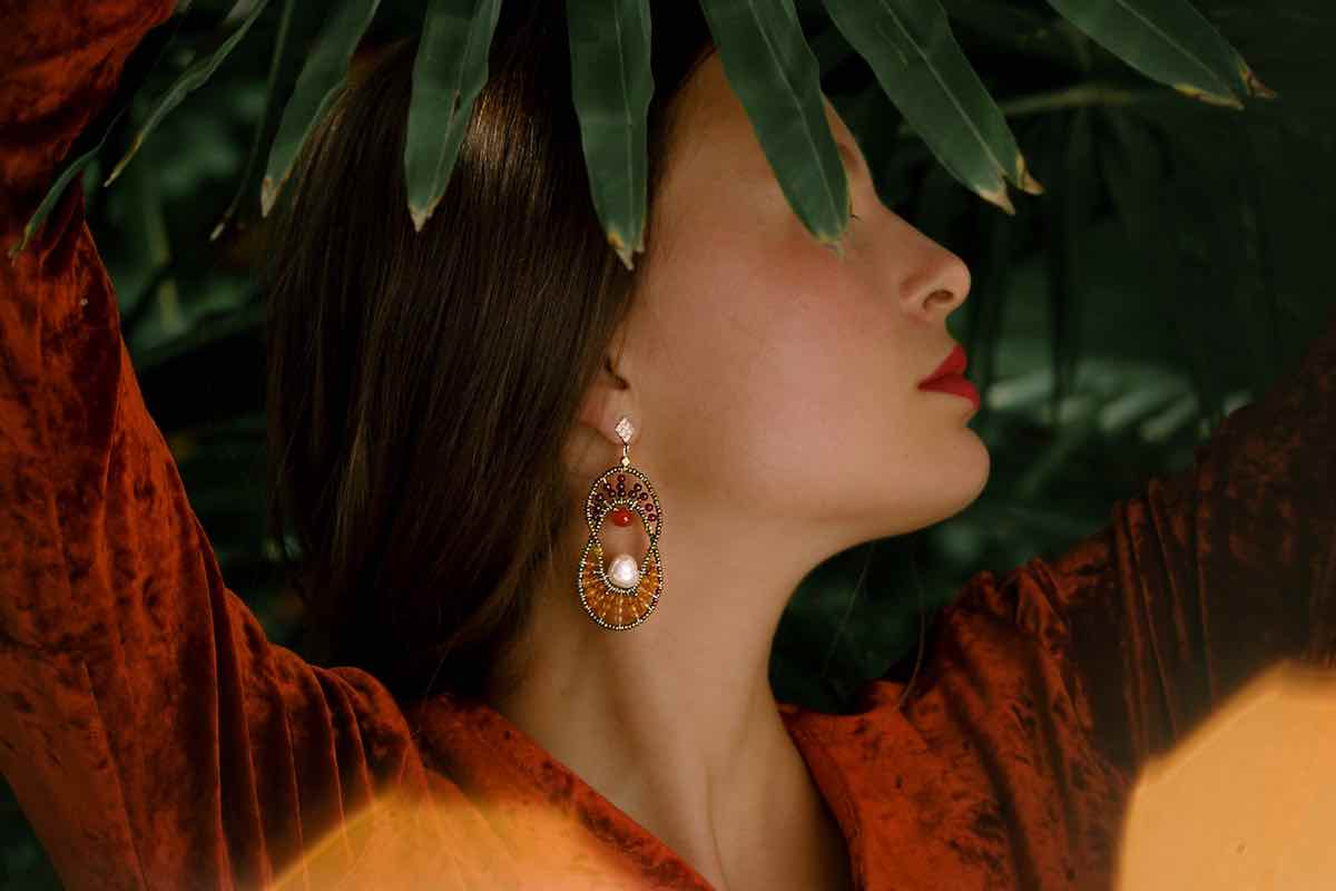 Elisse Jewels Collection-earrings ELISSE Orange