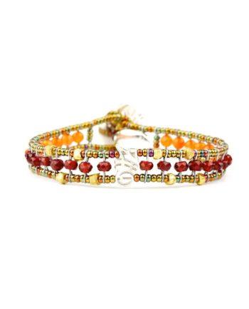 Bracelet GOUTTE Garnet -Ziio Jewels