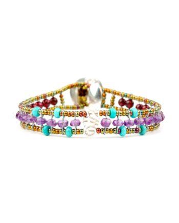 Bracelet GOUTTE Violet -Ziio Jewels