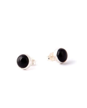 Orecchini Satellite Cabochon Black Onyx-Ziio Jewels