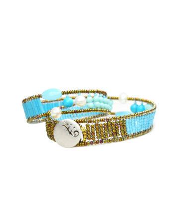 Bracelet Blu Note Boa - Ziio Jewels