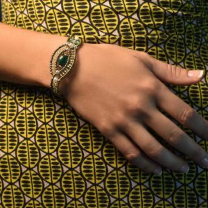 Bracelet Rha Malachite - On Green Dress -Ziio Jewels