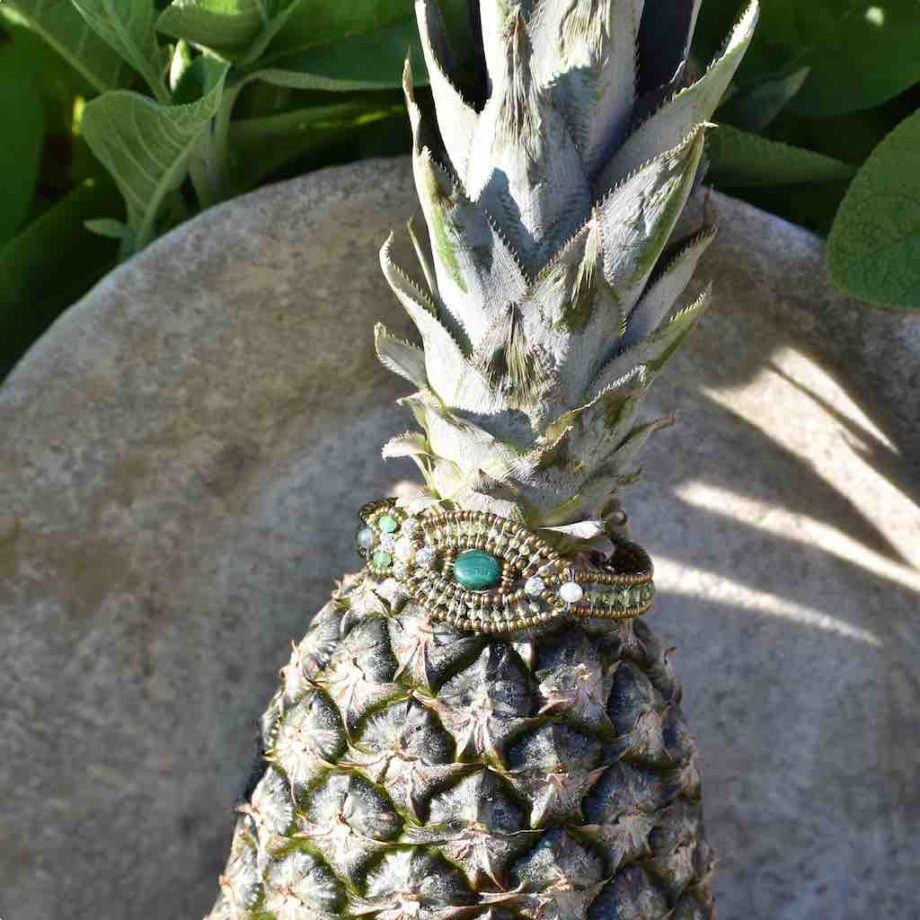 Bracelet Rha Malachite-ananas-Ziio-Jewels