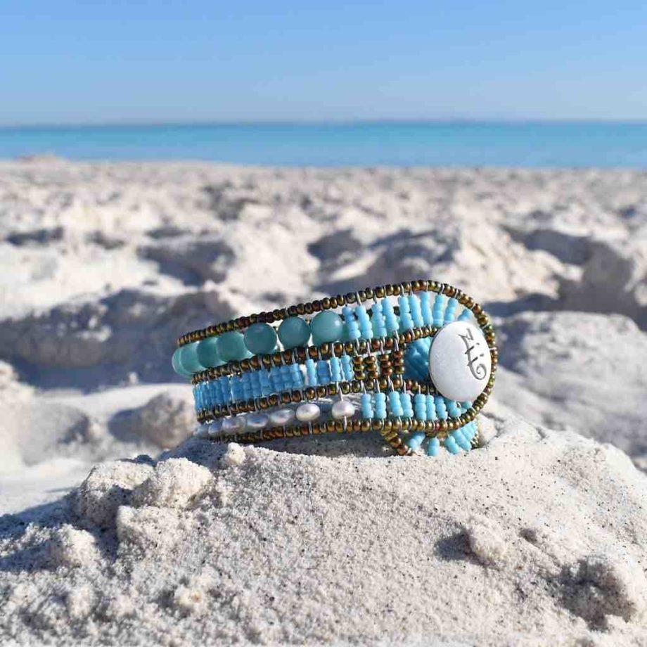 Bracelet Rock Turchesino on the beach-Ziio-Jewels