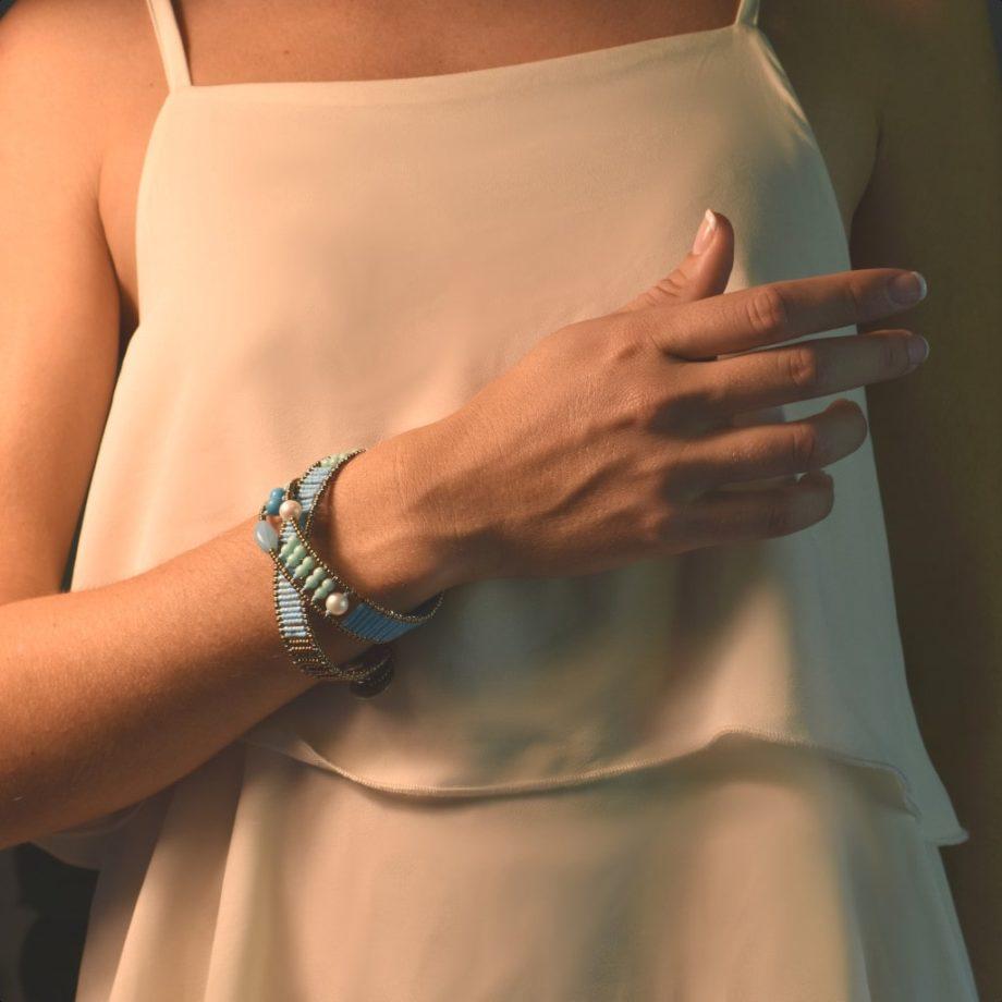 Bracelet blu note Boa-Ziio-Jewels