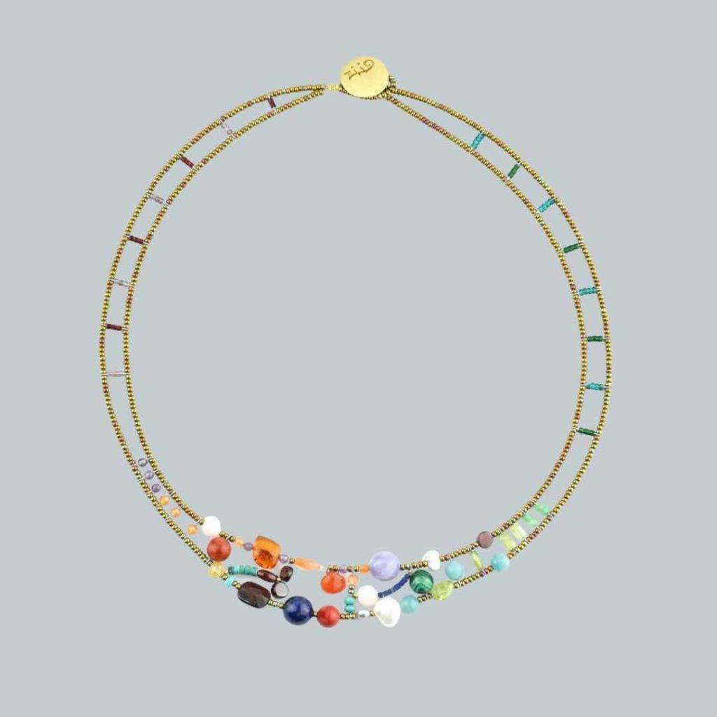 Shinju encore - New colors Neklace-Shinju-Multi-Ziio-Jewels