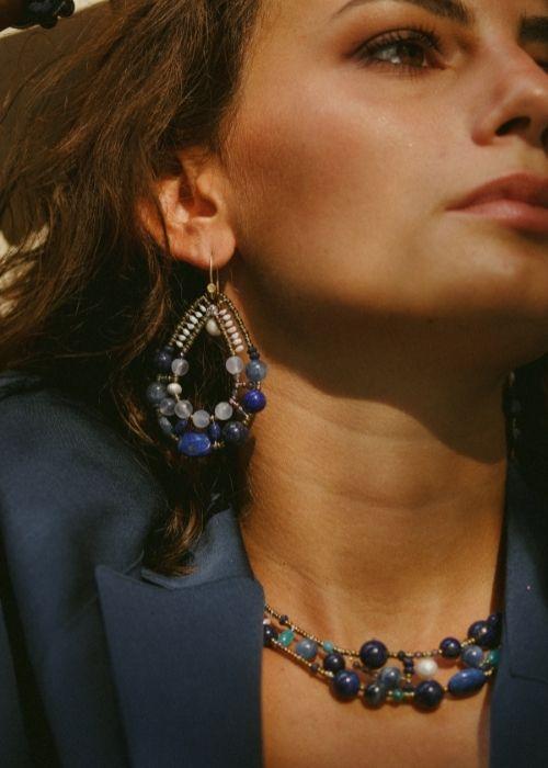 Ziio jewels - Shinju BLU portrait