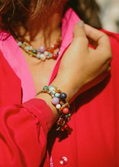Ziio jewels - Shinju MULTI Bracelet earrings
