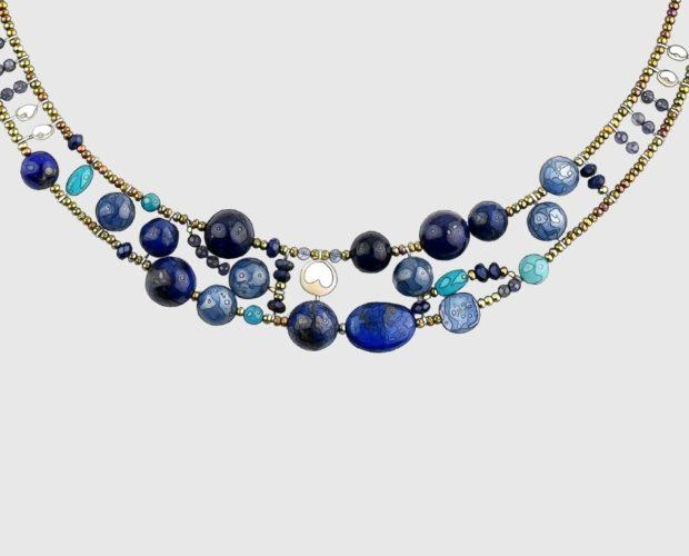Ziio jewels illustration Necklace Shinju Blu featured image